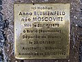 Stolperstein Anna Blumenfeld 6 rue Beaumonts Fontenay Bois 6.jpg