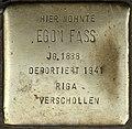 Stolperstein Köln, Egon Fass (Maastrichter Straße 21).jpg