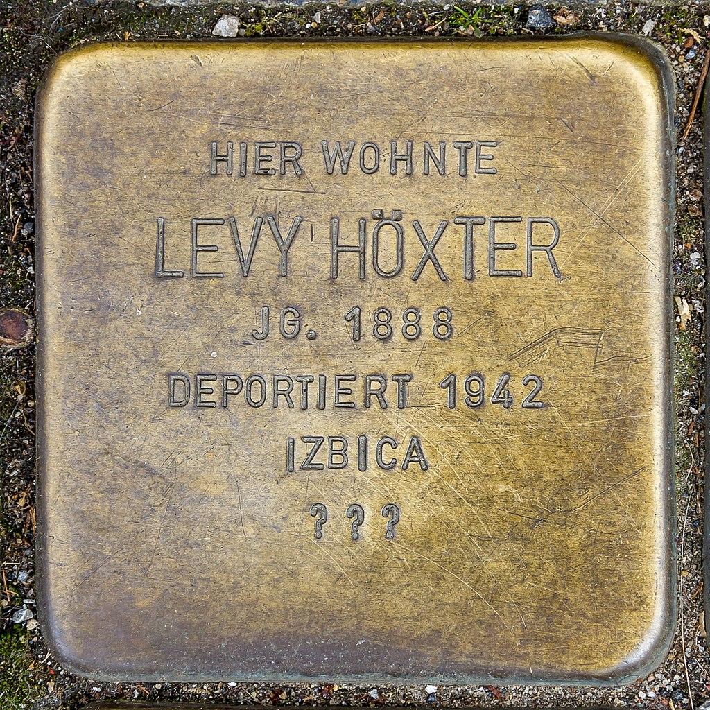 Stolperstein Levy Höxter
