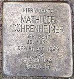 Stolperstein Mathilde Dührenheimer Neidenstein.jpg