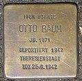 Stolperstein Otto Baum, Düsseldorf, Immermannstraße 66 (heute Konrad-Adenauer-Platz 1).jpg