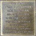 Stolperstein Sima Fouterman 53 rue Clos Orléans Fontenay Bois 2.jpg