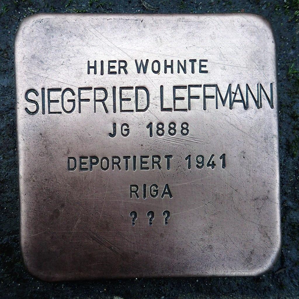 Stolperstein für Siegfried Leffmann
