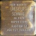 Stumbling block for Lieselotte Schnog (Krummer Büchel 18)
