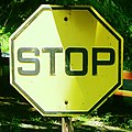 Stop, Yellow Sign (7497078030).jpg