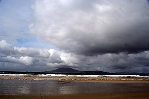 Grey - Storm clouds towards Clare Island, Ireland.