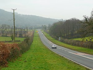 A468 road - Image: Straight on the A468 geograph.org.uk 1144320