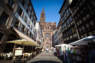 La rue Mercière à Strasbourg