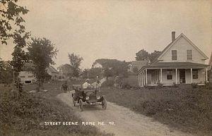 Rome, Maine - Street scene c. 1916