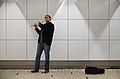 Street musician in Brussels Central Station (DSCF8192).jpg