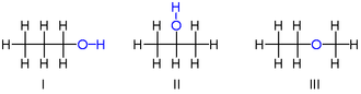 Isomer - isomers of propanol