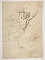 Study for a Prometheus Bound (recto); slight sketch of head and shoulders of man in lead pencil (verso) MET DP811502.jpg