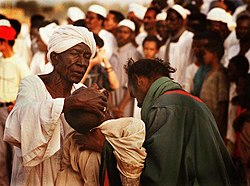 A Sufi man goes into a trance in Khartoum, Sudan