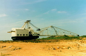 Corby - Sundew dragline excavator was a local landmark