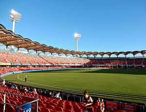 Carrara Stadium - View of the field and grandstand