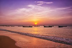 Sunrise at Thoothukudi beach