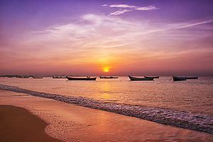 Thoothukudi district - Sunrise at Thoothukudi beach