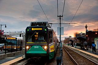 Boston University Central station Light rail station in Boston, Massachusetts