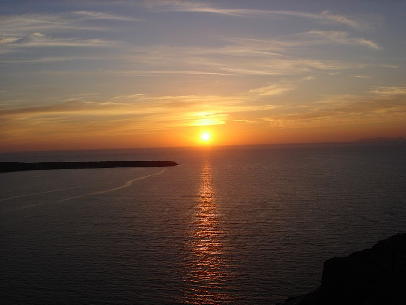 Αρχείο:Sunset in Oia (1).jpg