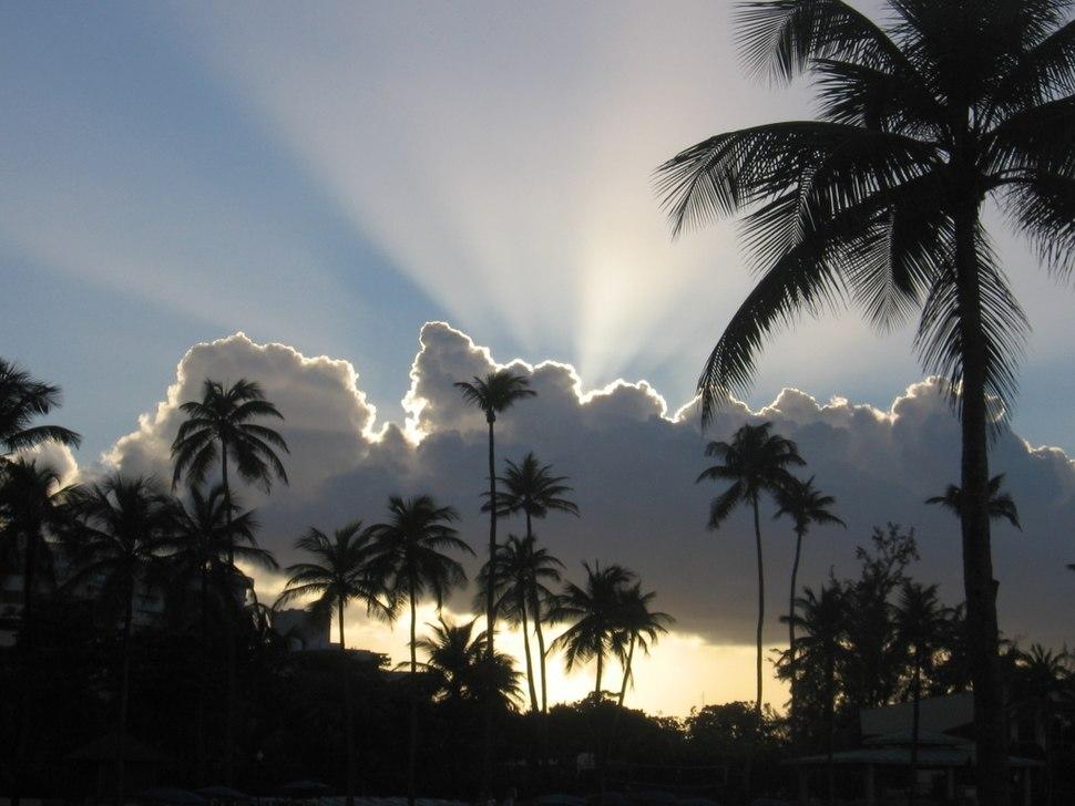 Sunset in San Juan, Puerto Rico