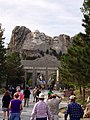 Sunset shining on the faces at Mount Rushmore.jpg