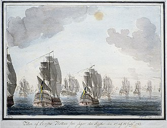Russo-Swedish War (1788–1790) - Swedish and Russian navies during a battle in July 1789, Öland