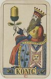 Swiss card deck - 1850 - King of Acorns.jpg