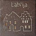 Symbol of Latvija by Helmut Blažej, Bleiburg.jpg