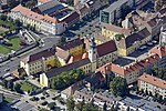 Szombathely, Ferences templom a levegőből.jpg