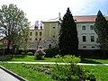 Třeboň, klášter, z Komenského sadů.jpg