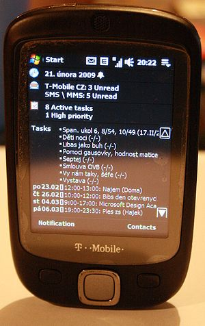HTC Touch - A T-Mobile MDA Touch running WM 6.1