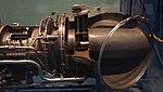T58-IHI-10M2 turboshaft engine(cutaway model) turbin & exhaust section left side view at Kakamigahara Aerospace Science Museum November 2, 2014.jpg