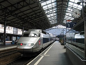 Lausanne railway station - Image: TGV in Lausanne CFF
