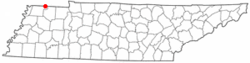 Location of South Fulton, Tennessee
