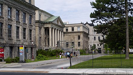Established in 1848, the University of Ottawa is the oldest post-secondary institution in the city. Tabaret Hall Ottawa 2014.jpg