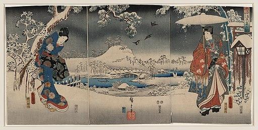Tale of Genji Toyokuni Utagawa print