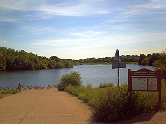 The lakes and pools within Sandwell Valley are home to a wide range of water fowl and also play host to migrating birds. Tame Sandwell Forge Mill.JPG