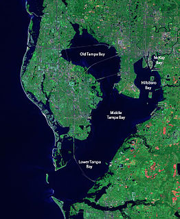 Tampa Bay Estuary and natural harbor in Florida, off the Gulf of Mexico