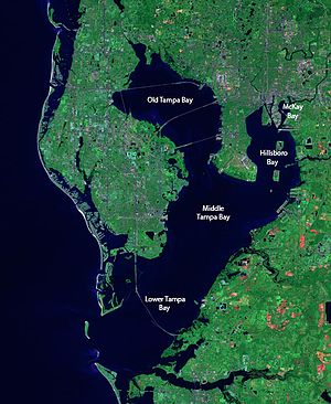 Map Of Florida Bays.Tampa Bay Wikipedia