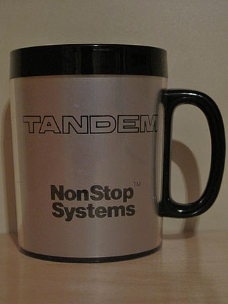 Tandem Computers - Later Tandem Computers promotional mug, with one handle.