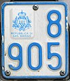 Targa automobilistica San Marino 1997 8 905 ciclomotore.jpg