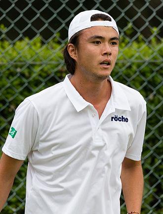 Taro Daniel - Image: Taro Daniel 1, 2015 Wimbledon Qualifying Diliff