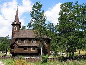Tatranská Javorina - Image: Tatry Javorina Slovakia kostol