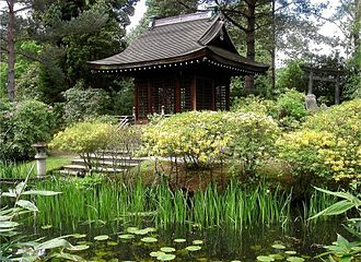 Tatton Park - Japanese Garden showing the Shinto Shrine