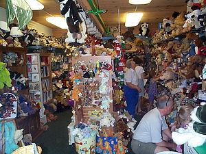 Teddy Bear Museum of Naples - Inside the gift store.