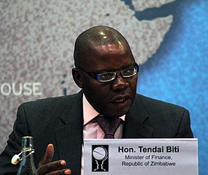 Tendai Biti - Biti at Chatham House in 2013