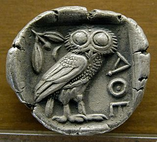 owl that traditionally represents or accompanies Athena