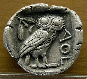 Achaea (Roman province) - Image: Tetradrachm Athens 480 420BC MBA Lyon