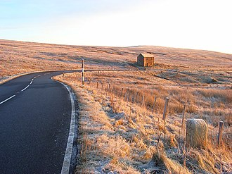 A686 road - Image: The A686 below Hartside geograph.org.uk 1073084