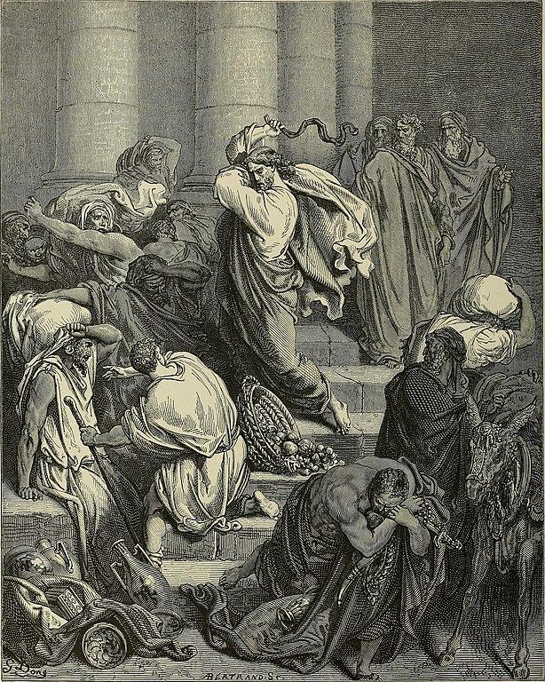 성전 뜰에서 쫓겨난 상인들 (귀스타브 도레, Gustave Dore, 1866년)